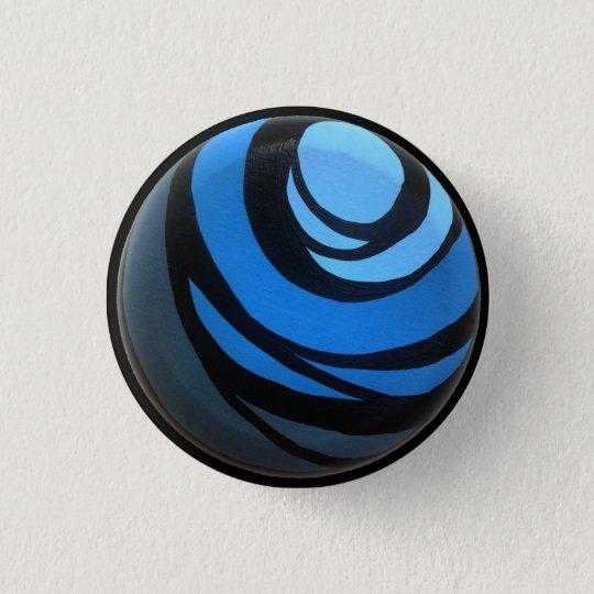 Blauer Chakra Knopf Runder Button 3,2 Cm