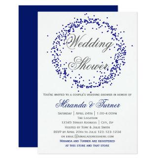 Blauer Confetti - der Polterabend des Paares 3X5 8,9 X 12,7 Cm Einladungskarte