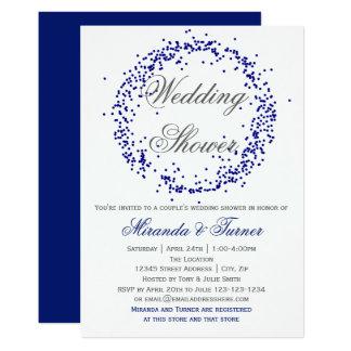 Blauer Confetti - der Polterabend des Paares laden Karte