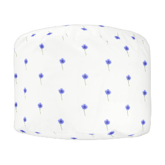 blauer Cornflower Hocker