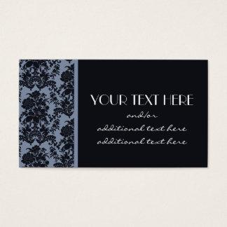 Blauer Damast Visitenkarte