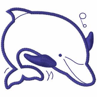 Blauer Delphin Kapuzenpulli