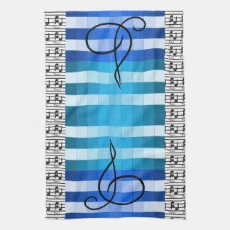 Blauer Designer-musikalisches Handtuch