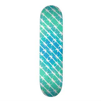 Blauer Diamant-Stacheldraht Barb, der tadelloses Skateboardbretter