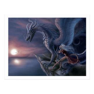 Blauer Drache Postkarte