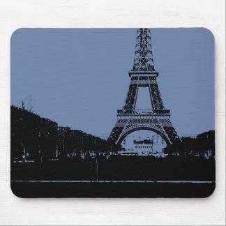 Blauer Eiffelturm Mousepad
