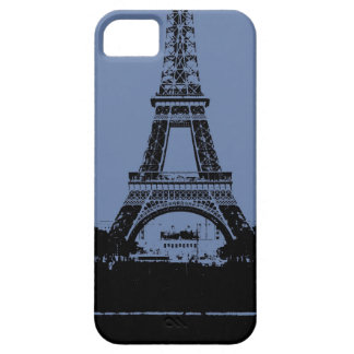 Blauer Eiffelturm-Telefon-Kasten iPhone 5 Etui