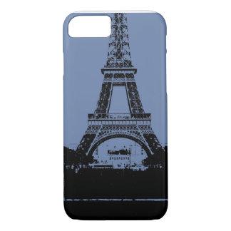 Blauer Eiffelturm-Telefon-Kasten iPhone 8/7 Hülle