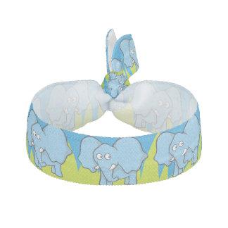 Blauer Elefant-Cartoon Haarschleife