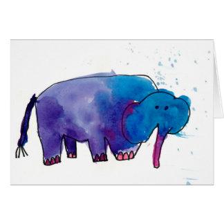 Blauer Elefant • Gracie Glaser, Alter 6 Mitteilungskarte