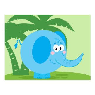 Blauer Elefant Postkarte