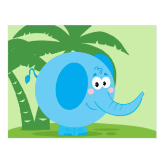 Blauer Elefant Postkarten