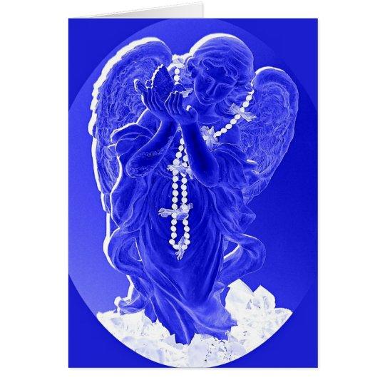 Blauer Engels-Liebe-Karte Grußkarte