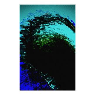 Blauer Entwurf Briefpapier