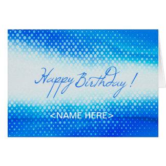 Blauer Entwurf für Geburtstags-Grußkarte Karte