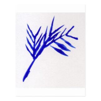 Blauer Farn Postkarte