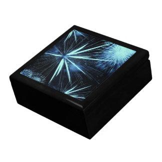 Blauer Feuerwerks-Kasten Große Quadratische Schatulle