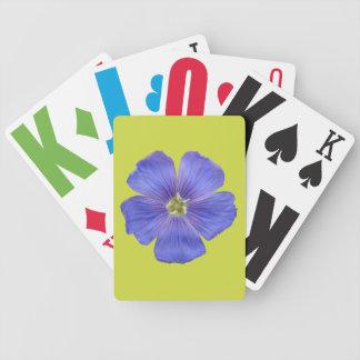 Blauer Flachs #1 Bicycle Spielkarten