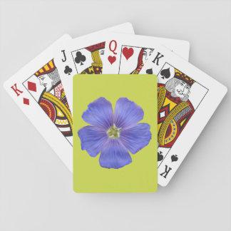 Blauer Flachs #1 Spielkarten
