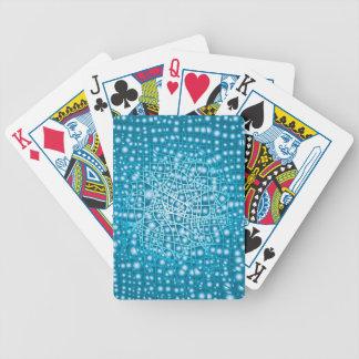 Blauer flüssiger Hintergrund Bicycle Spielkarten