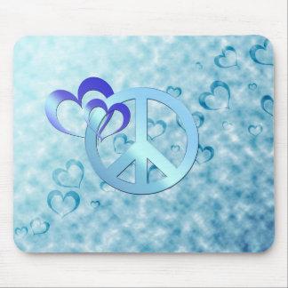 Blauer Frieden Mauspads