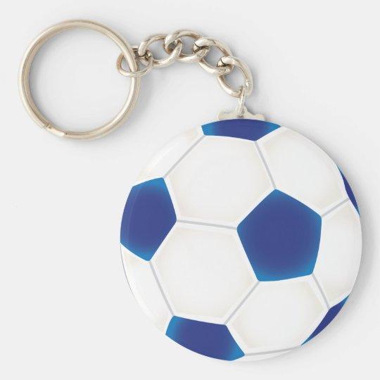 Blauer Fußball Schlüsselanhänger