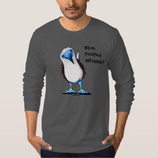 Blauer füßiger Dummkopf T-Shirt