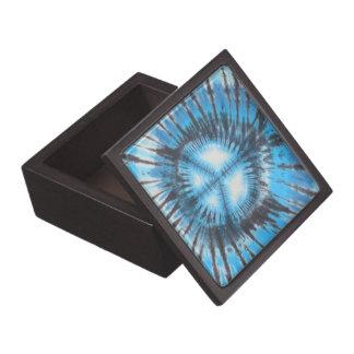 Blauer gebatikter Frieden Schachtel