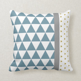 Blauer/gelber/graue Kissen Dreiecke