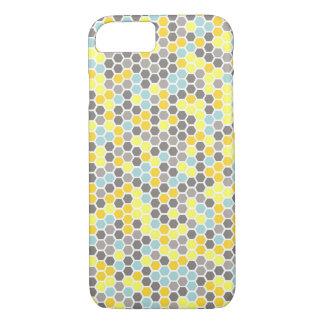 Blauer, gelber, grauer iPhone 8/7 hülle