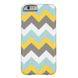 Blauer, gelber, grauer, weißer Zickzack Barely There iPhone 6 Hülle