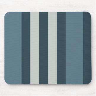 Blauer gestreifter Entwurf Mousepads