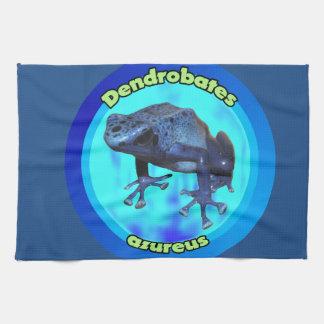 Blauer Giftpfeilfrosch Handtuch