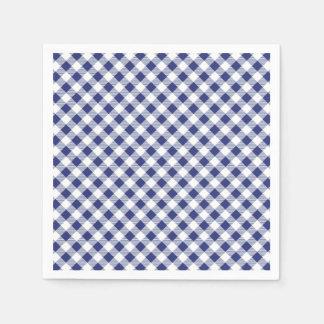 Blauer Gingham Papierserviette
