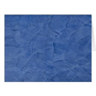 Blauer Gips-großer leerer Gruß Riesige Grußkarte