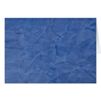 Blauer Gips-Raum-Gruß Karte