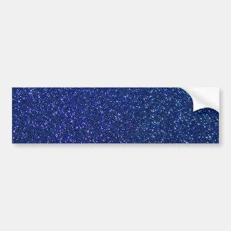 Blauer Glitter Autoaufkleber