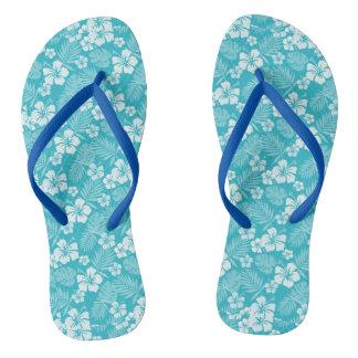 Blauer Hawaiianer Java drehen Reinfälle um Flip Flops