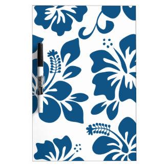Blauer hawaiischer Hibiskus Trockenlöschtafel