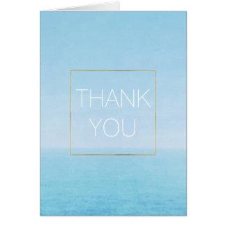 Blauer Himmel-Ozean-Strand danken Ihnen Karte