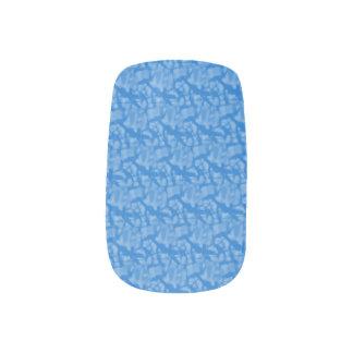 Blauer Hintergrund Chanukkas in einer Fraktal-Art Minx Nagelkunst
