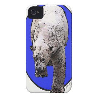 Blauer Hintergrund polares Bear_2017-04-23 iPhone 4 Hüllen