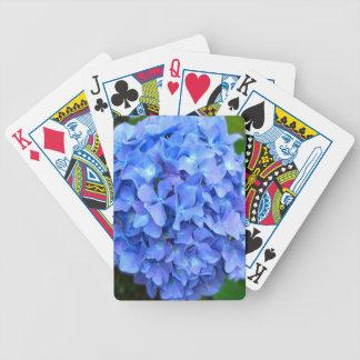 Blauer Hydrangea Bicycle Spielkarten