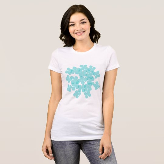 blauer Hydrangea-T - Shirt