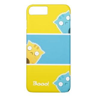 Blauer Ingwer-Katzen-Smartphone-Kasten iPhone 7 Plus Hülle