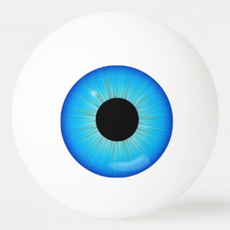 Blauer Iris-Augapfel Tischtennis Ball