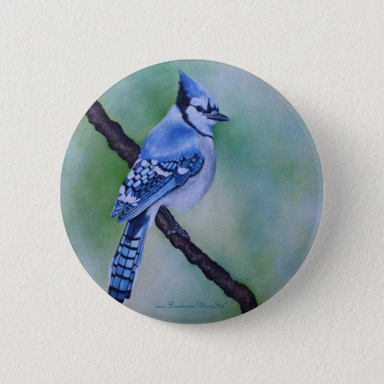 Blauer Jay-Knopf Runder Button 5,1 Cm