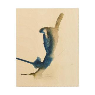 Blauer Jaywatercolor-Druck durch Oliver auf Holz Holzwanddeko