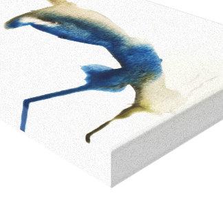 Blauer Jaywatercolor-Druck durch Oliver auf Leinwanddruck