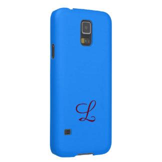 Blauer Kasten Monogramm-Samsung-Galaxie S5 Galaxy S5 Hüllen